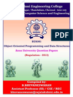 EC6301-OOPs and Data Structures-Anna University-Question Papers