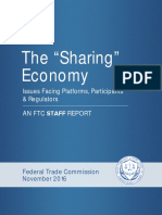 Ftc Staff Report on the Sharing Economy