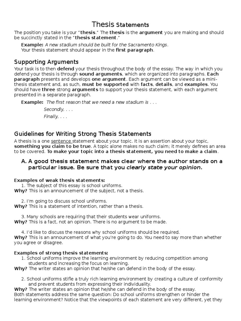 Thesis statement persuasive essay school uniforms director information technology sample resume