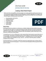 SCM Creating a New Project Petrel 2010