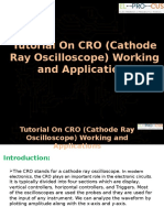 CRO-Cathode Ray Oscilloscope Working and Applications