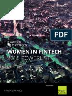 Women in Fintech Powerlist Nov 2016