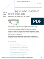 Summing Up Ways to Add and Count Excel Data - Excel