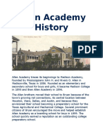 Allen Academy History.docx