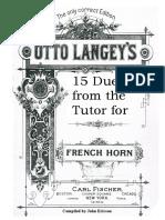 15 Horn Duets Carl Fischer