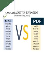 Badminton Lineup