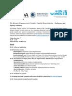 Agenda WEPs Conference 2016-12-02