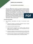 Corporate Responsibility Committee Mandate