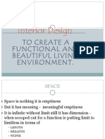 Interior Design - Quantity of Space