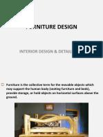 Furniture Design in Interior Design