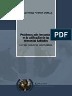 Problemas más frecuentes en la calificación de las demandas judiciales - Montoya Castillo (fs. 222).pdf