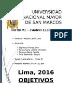 Campo Electrico - Laboratorio Fisica III
