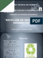 reciclaje de desecho sorgnicos