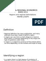 Urban & Regional Economics Eaeq 3211 Lesson 1 Notes [Autosaved]
