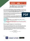 Block Diagram Algebra in Control Systems - GATE Study Material in PDF