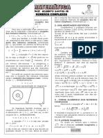 Apostila de Números Complexos (9 Páginas, 59 Questões, Com Gabarito)