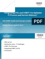 Integrating ITIL&COBIT to Optiimize IT Process & Svc Delivery