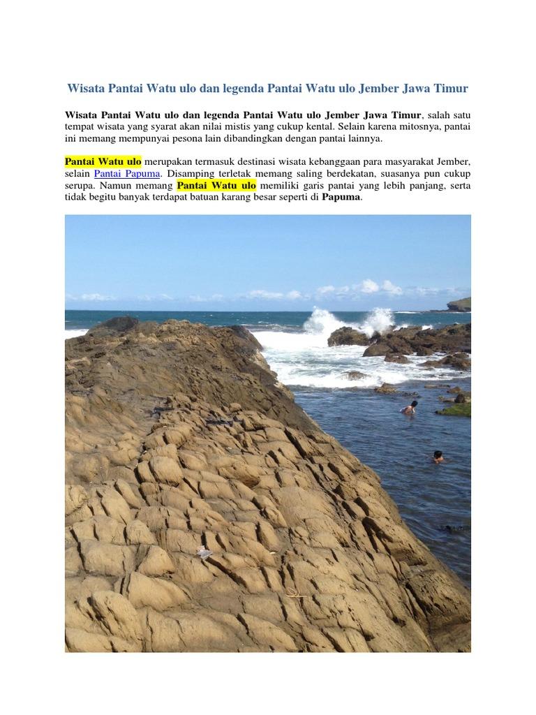 Wisata Pantai Watu Ulo Dan Legenda Pantai Watu Ulo Jember