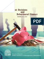 Iim Ahmedabad Investment Decisions and Behavioural Finance 5 30 Yrs