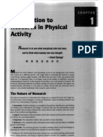 ) Introduction to Research in Physical Activity