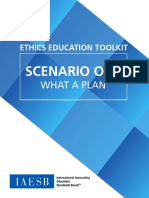 IAESB Ethics Education Toolkit Scenario 1 What a Plan