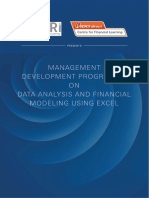 Xlri Mdp on Data Analysis and Financial Modeling Using Excel 0 30 Yrs