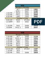 3rd Year Schedule