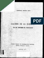 Domingo Munoz Leon, Gloria de La Shekina en Los Targumim Del Pentateuco