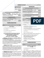 LEY 30517 - Ley Que Declara de Necesidad Pública e Interés Nacional La Ejecuciópn Del PEBPT