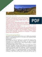 Machu Picchu -Completo
