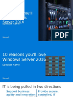 10 Reasons to Love Windows Server 2016