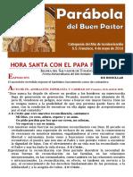 HORA SANTA CON EL PAPA. Parábola del Buen Pastor (18)