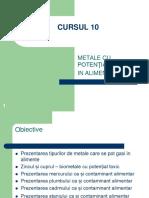 Toxicologie Alimentara Cursul 10 Metale