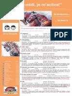 Dépliant Publicitaire Activités Mercredis PM Bloc 2 2e Et 3e Cycle 2016 2017