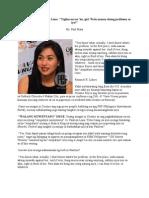 Cristine Reyes to Pauleen Luna