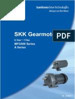 SKK Gearmotor MFG500 Series A Series cataloq