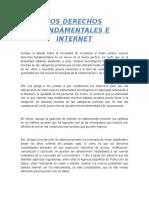 Los Derechos Fundamentales e Internet - DERECHO INFORMÁTICO juan.docx