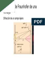 Difracción de Fraunhofer de Una Rendija
