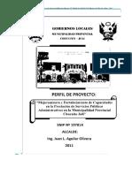 Mejoramiento de Los Servicios Educativos en La Institución Educativa 71004 CHUCUITO