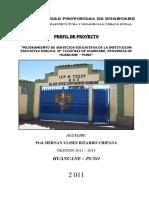 mejoramiento de Servicios Educativos de La Institucion Educativa 72229