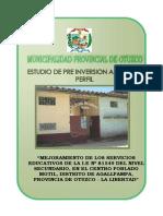mejoramiento de Los Servicios Educativos de La i.e n 81549
