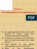 Chapter 4 - The Organisation of an Agribusiness