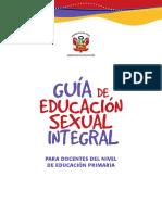 Perú. Ministerio de Educación. Guía de Educacion Sexual Integral. Nivel Primaria (2014)