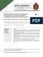 Fortalecimiento Exc Ntrico en Tendinopat as Del Manguito de Los Rotadores Asociadas a Pinzamiento Subacromial Evidencia Actual 2015 Cirug a y Cirujano