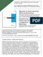 8 Review of International Political Economy Volume 9 Issue 1 2002 Kaltenthaler, Karl; Mora, Frank O. -- Explaining Latin American Economic Integration- The Case of Merc