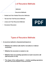 Types of Recursions
