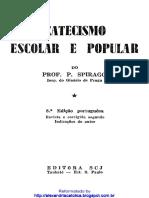 Catecismo Escolar e Popular - Prof Spirago.