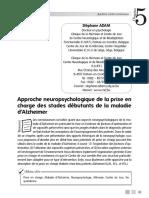 Adam - 2007 - Prise en Charge Cognitive Des Stades Débutants de La Maladie d'Alzheimer