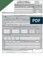 BIR Form 2305 Excel