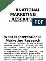 International Marketing Research (Dr.meenakshi Sharma